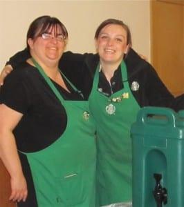 Jill Crosler & Angela Denno from Starbucks donate refreshments for the Annual Meeting